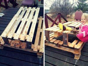 DIY Pallet Picnic Table for Kids