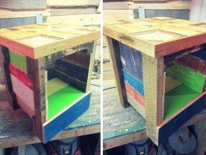 Mini Pallet Wood Side Table