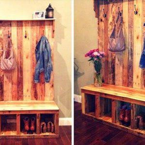 Pallet Shoe Rack - Pallet Coat Rack