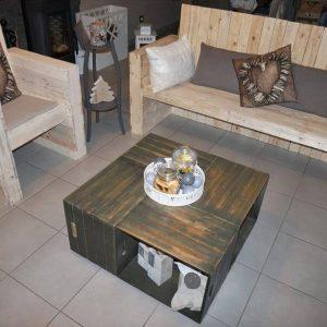 pallet bistro style seating set