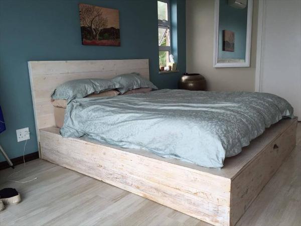 pallet platform bed frame