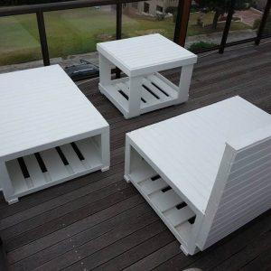 wooden pallet patio set