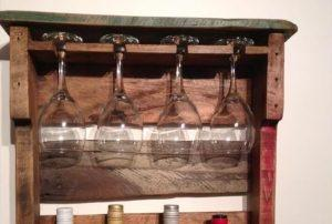 Wooden Pallet Beverage Rack