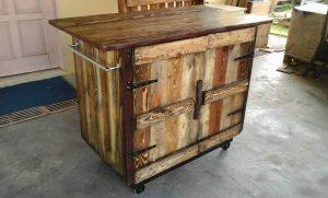 Wooden Pallet Kitchen Island Table
