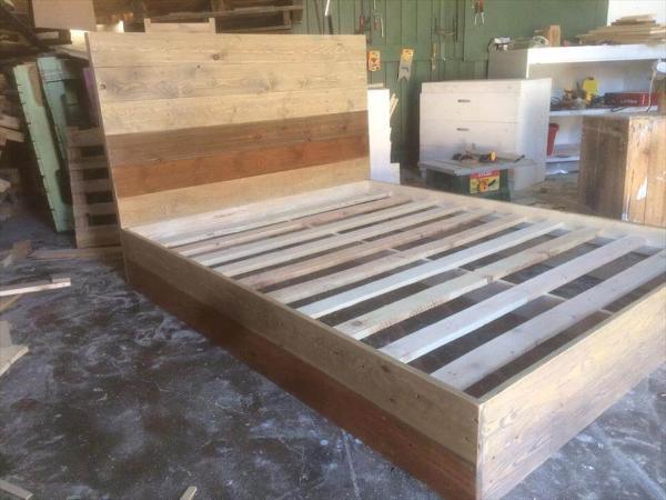 diy pallet platform bed frame