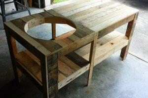 Pallet Wood Kamado Grill Table