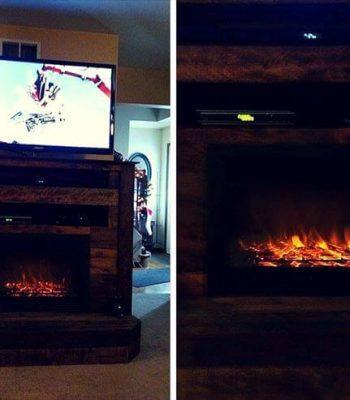 Pallet Fireplace