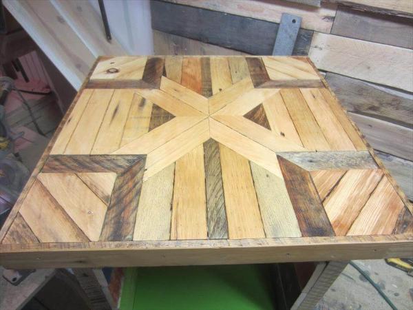 Mini pallet wood side table pallets