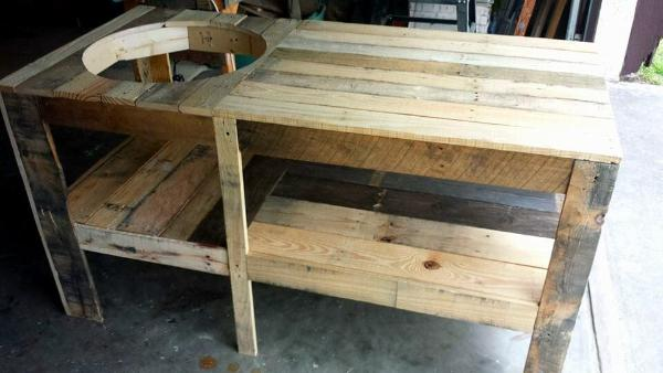 Handcrafted Wooden Pallet BBQ Grill Table