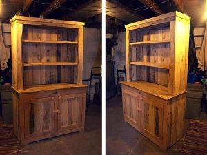 Pallet Wood Kitchen Hutch