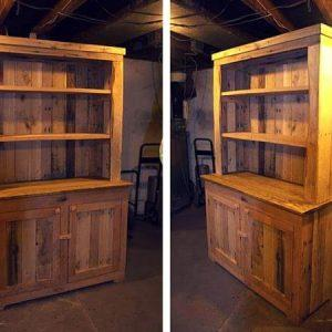 Wooden Hutch Made from Pallets