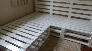 DIY Pallet Corner Sofa Frame