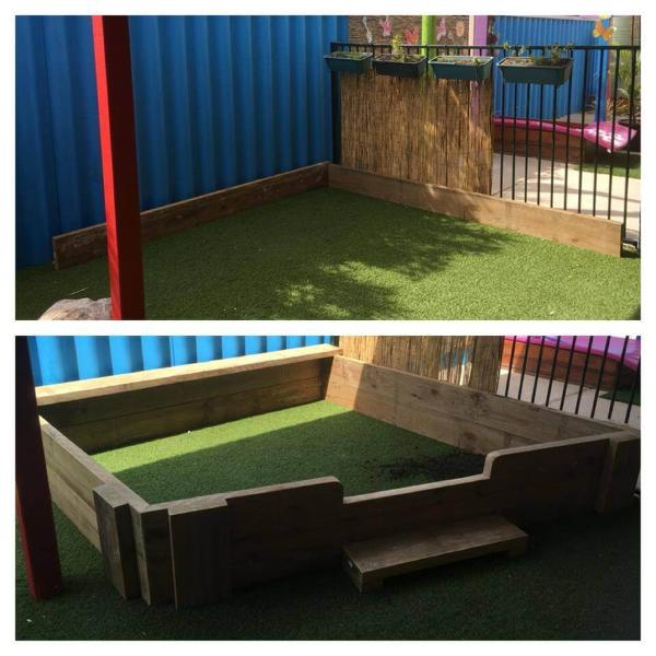 recycled pallet sandbox