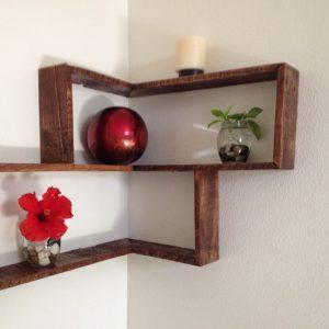 diy pallet rectangular decorative shelf