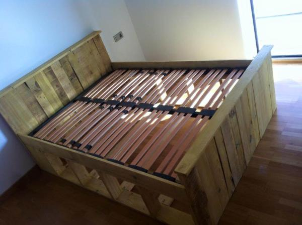 Pallets Wood Bed Frame 101 Pallets