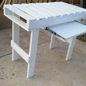 wooden pallet white painted desk