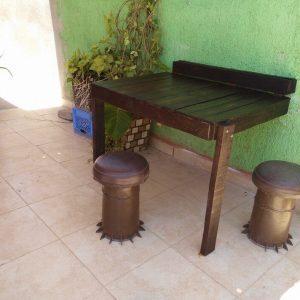 wooden pallet folding desk