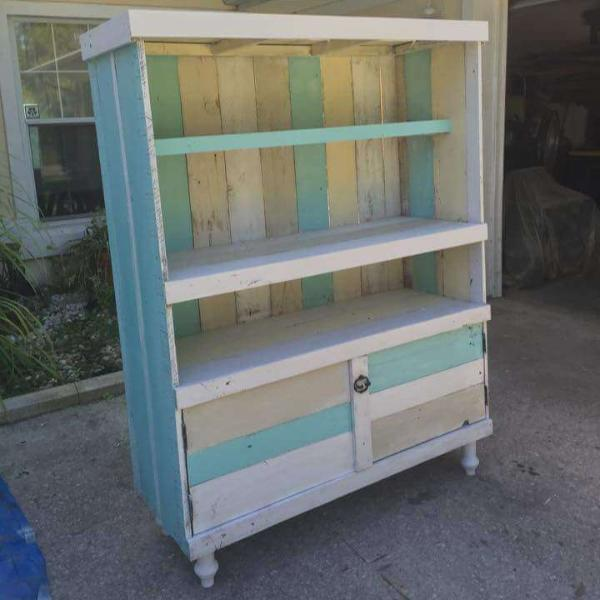 handmade wooden pallet kitchen hutch