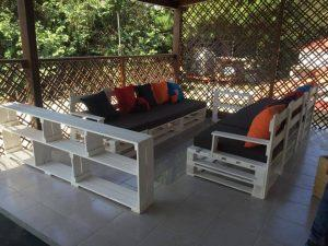 DIY Pallet Patio Sofa Set / Porch Furniture