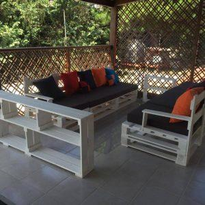 no-cost pallet patio sofa set