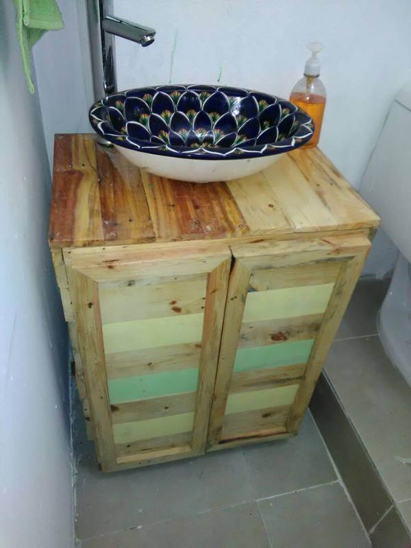 Diy Pallet Wood Bathroom Vanity 101 Pallets