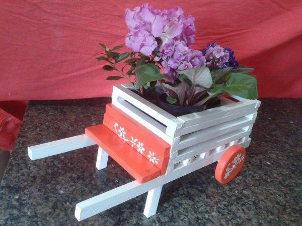 handcrafted pallet wheelbarrow