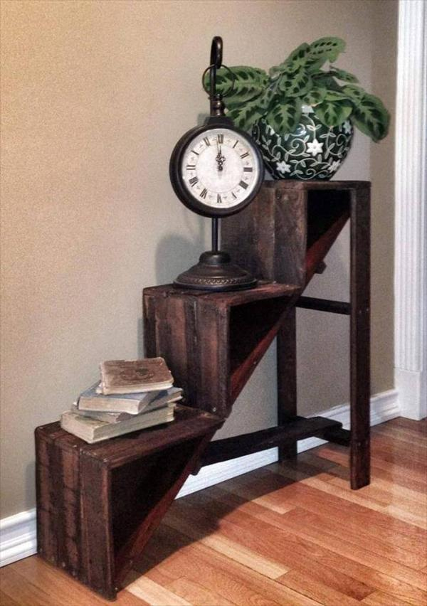stair like pallet side table