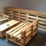 Recycled pallet bar with seating