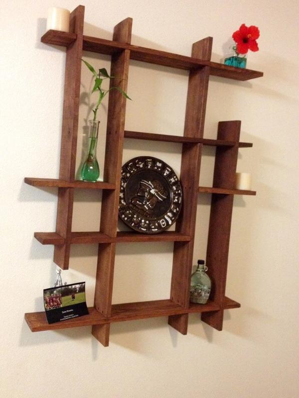handmade pallet decorative shelf