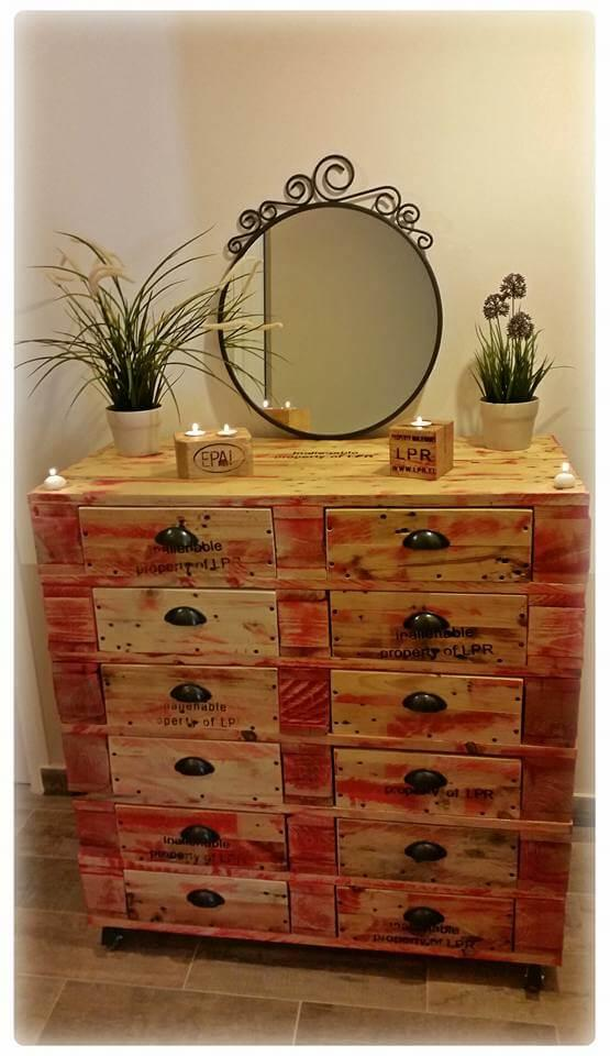 diy pallet 12 drawer dresser