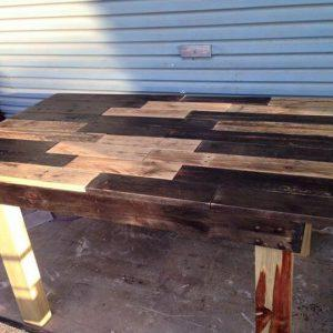 Rustic pallet dining table
