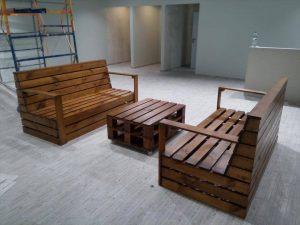 Recycled Pallet Seating Furniture Set