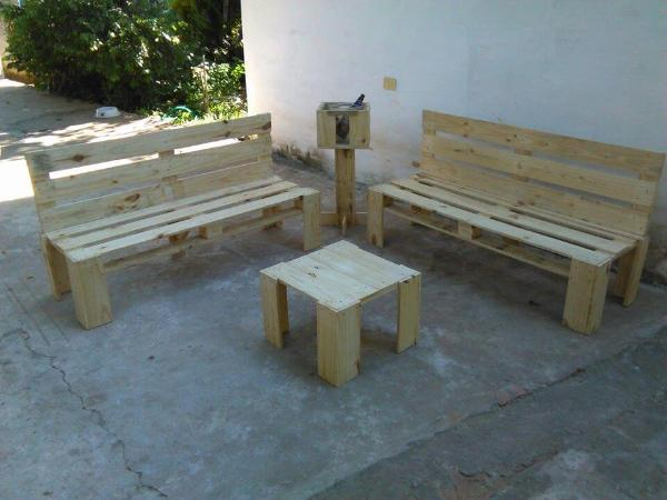 recycled pallet sofa set