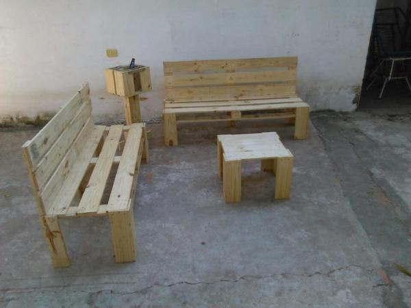 handcrafted pallet outdoor sitting sofa set