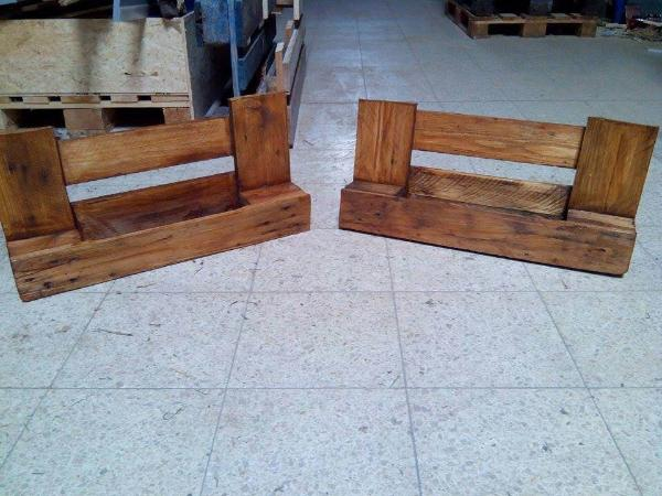 rustic wooden pallet shelves