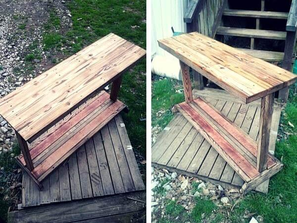 Pallet Entrance Table - Pallet Sofa Table