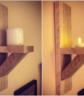 Pallet Candle Holders