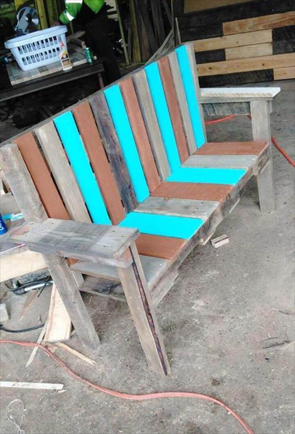 pallet garden bench seat