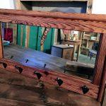 recycled pallet mirror hooks