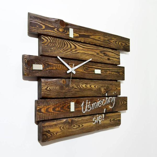 recycled pallet rustic wall clock