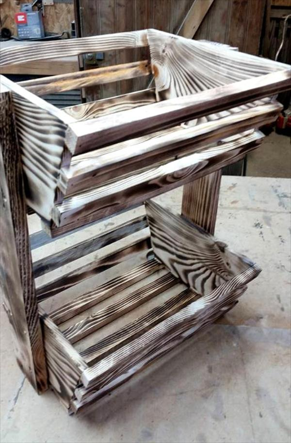 recycled pallet fruit baskets