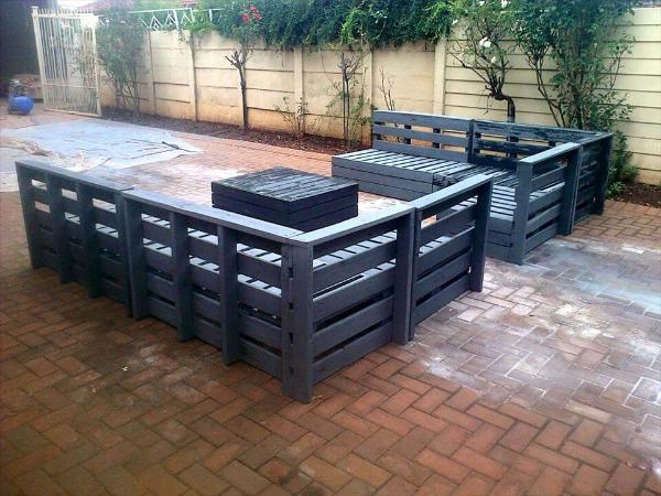diy pallet patio furniture set