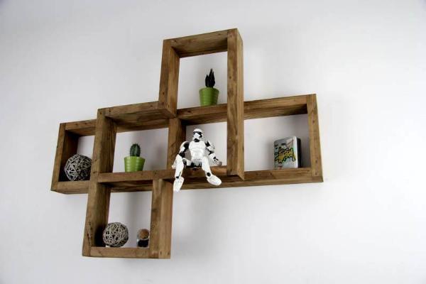 diy pallet shelf unit