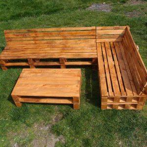 diy pallet sofa with coffee table