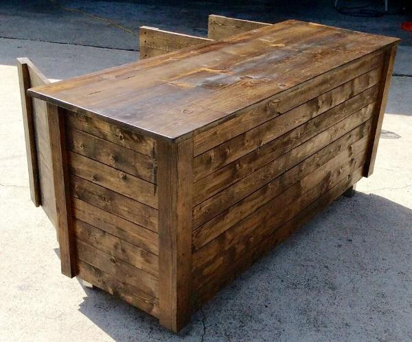 custom pallet indoor bar