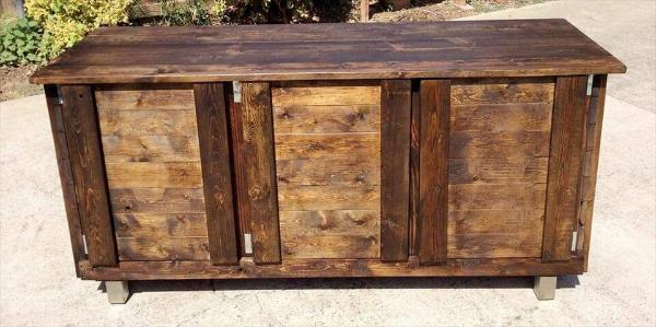 handcrafted wooden pallet indoor bar