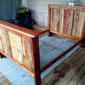 wooden pallet full size bed frame