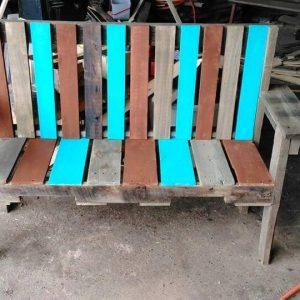 diy pallet garden bench seat