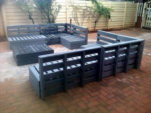 Recycled pallet patio furniture set