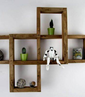 Wooden pallet shelf unit